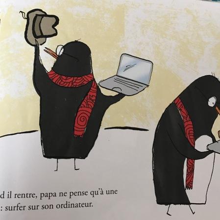 """crédit photo : capture écran livre """"Papa est connecté"""" de Philippe de kemmeter éditions la martiniere jeunesse"""