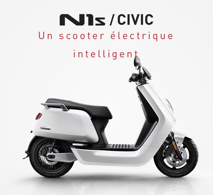 Niu premier E-scooter connecté et intelligent