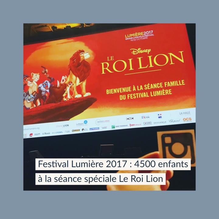 Festival Lumière 2017 : 4500 enfants présents à la séance spéciale Le Roi Lion!