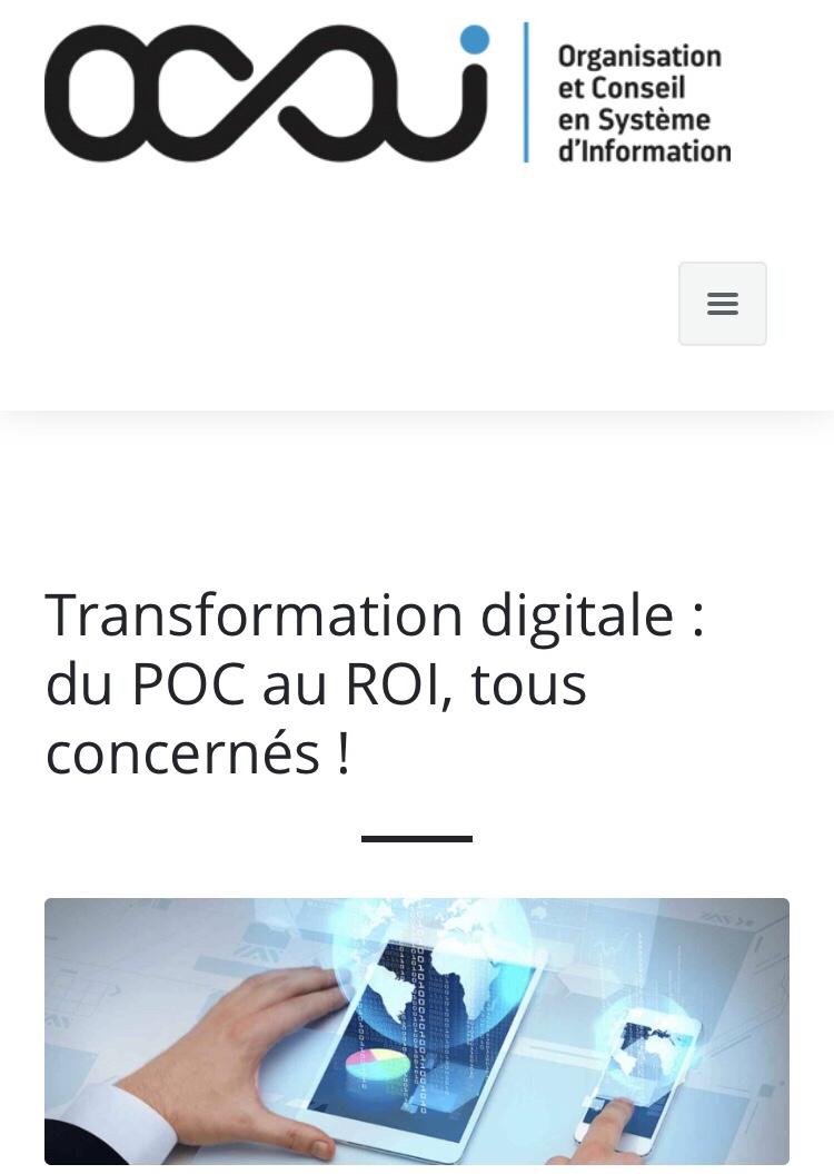 Transformation digitale : du POC au ROI, tous concernés !#TransfoNum