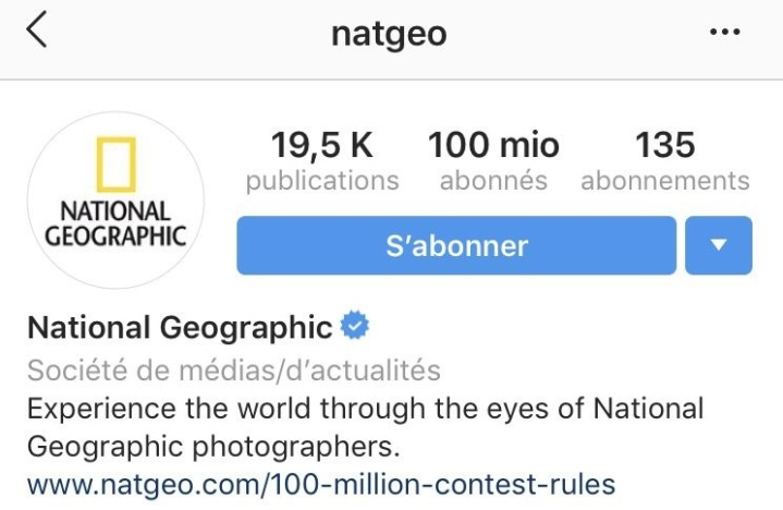 National Geographic atteint les 100 millions de followers sur Instagram